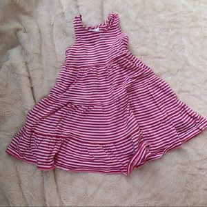 Hanna Andersson Pink and White Striped Dress